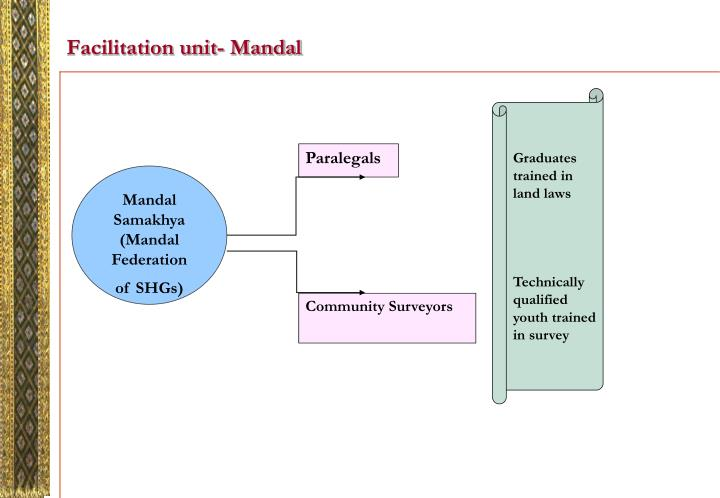 Facilitation unit- Mandal