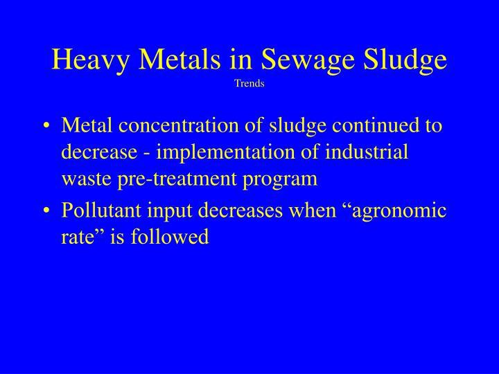 Heavy Metals in Sewage Sludge