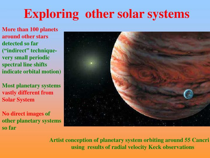 Exploring  other solar systems