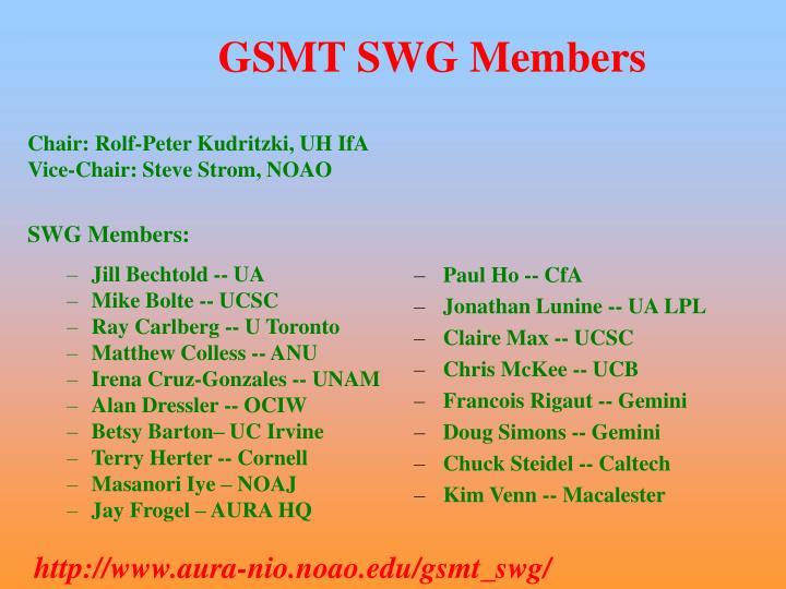 GSMT SWG Members