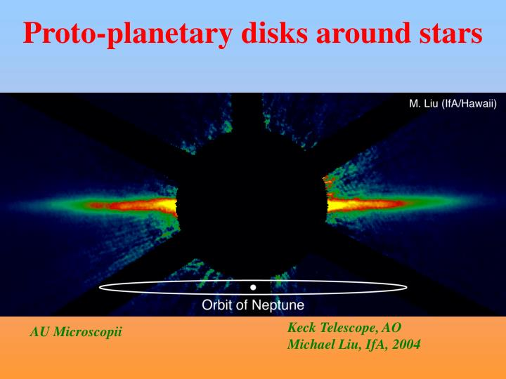 Proto-planetary disks around stars