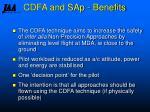 cdfa and sap benefits