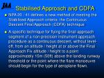 stabilised approach and cdfa