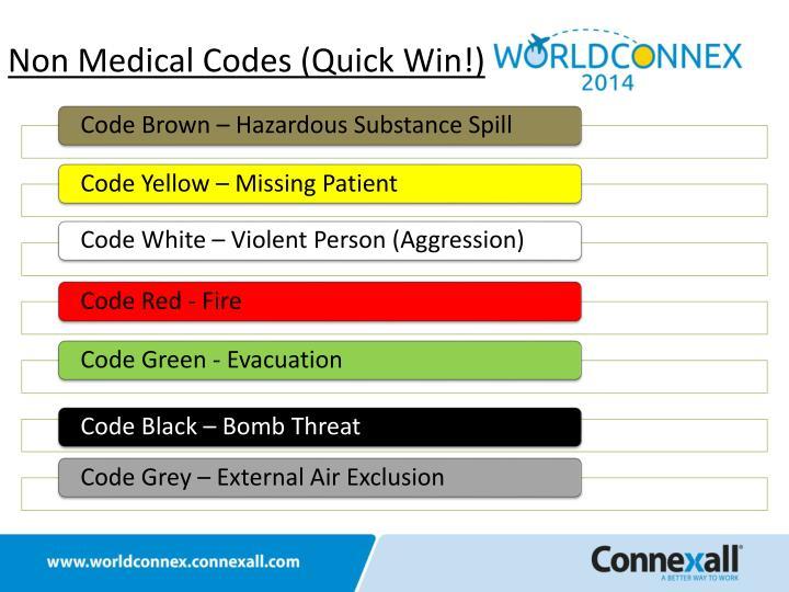 Non Medical Codes (Quick Win!)