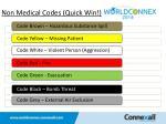 non medical codes quick win