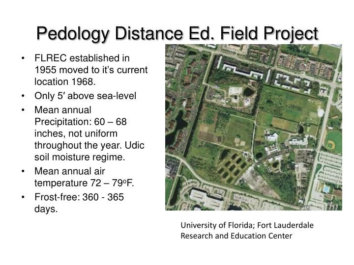 pedology distance ed field project