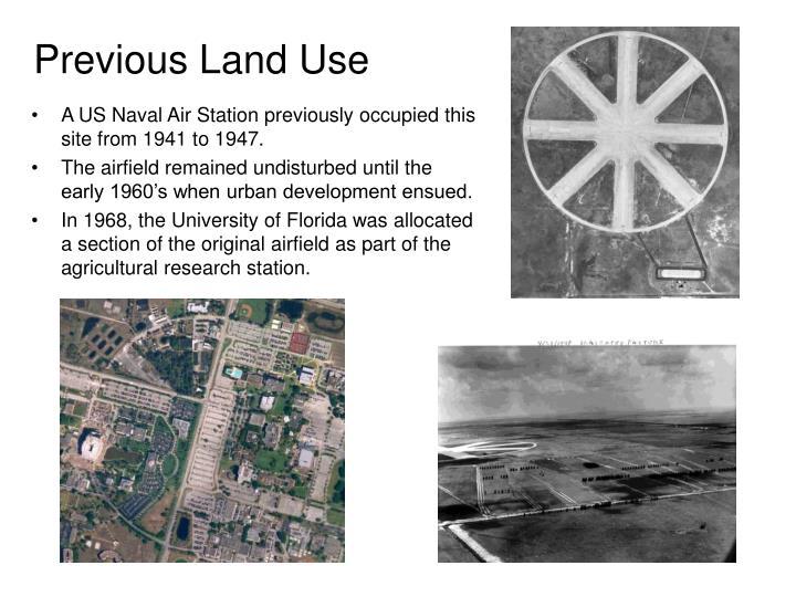 Previous Land Use