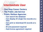 intermediate user