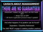 caveats about reassignment