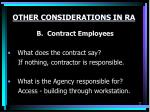 other considerations in ra1