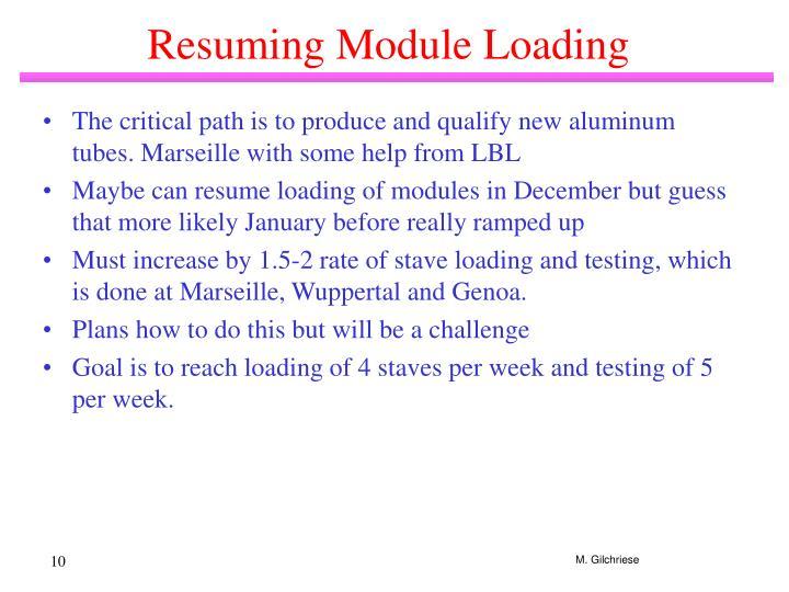 Resuming Module Loading