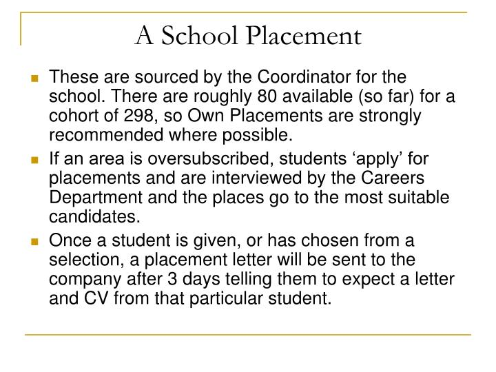 A School Placement