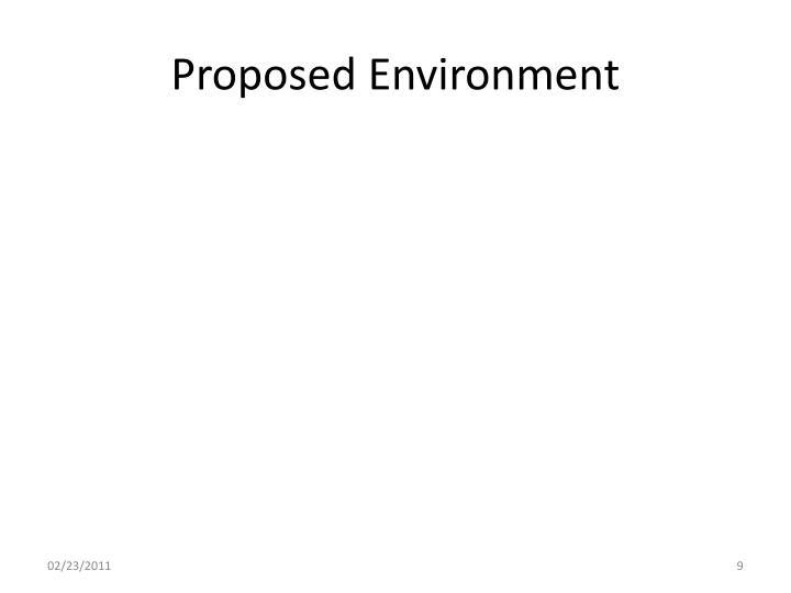 Proposed Environment
