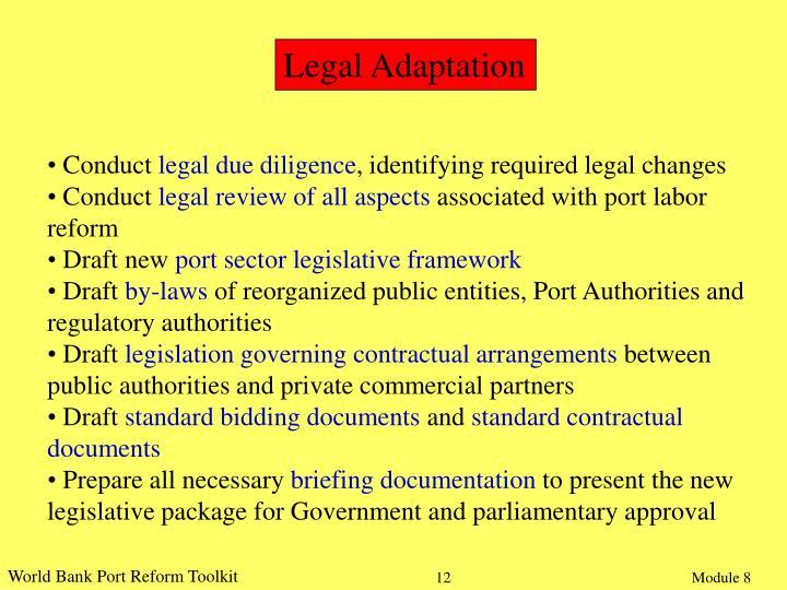Legal Adaptation