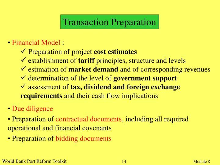 Transaction Preparation