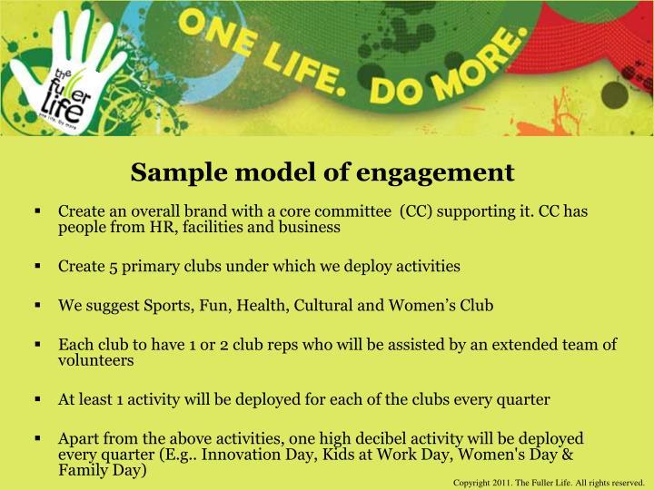 Sample model of engagement