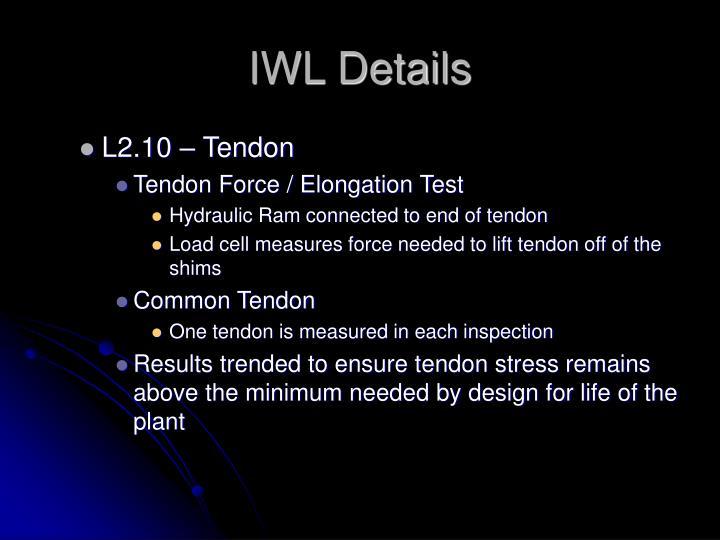 IWL Details