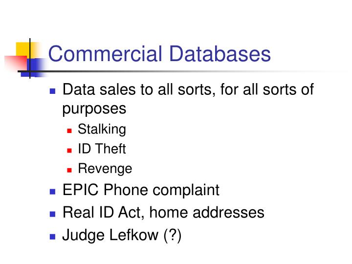 Commercial Databases