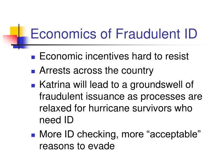 Economics of Fraudulent ID
