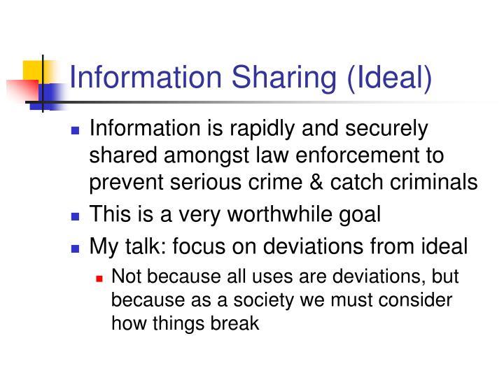 Information Sharing (Ideal)