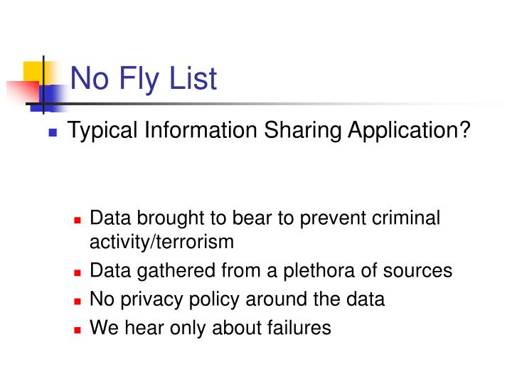 No Fly List