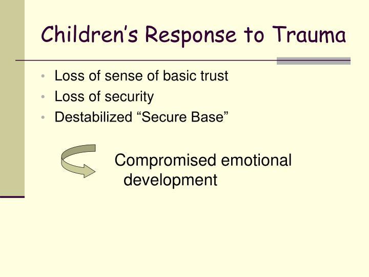 Children's Response to Trauma