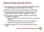 sample frame and data source