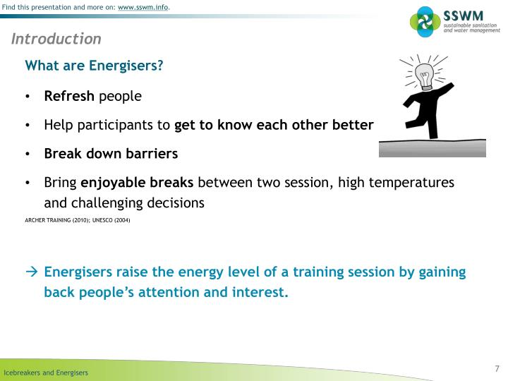 What are Energisers?