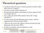 theoretical q uestions