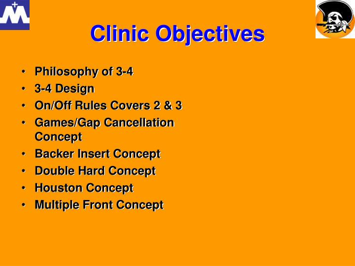 Clinic objectives