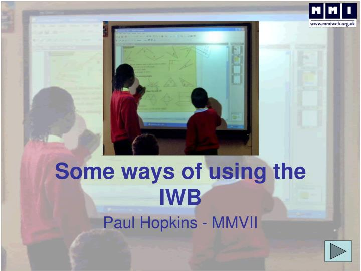 some ways of using the iwb