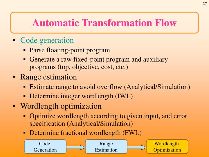 Automatic Transformation Flow