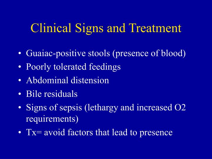 Clinical Signs and Treatment