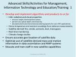 advanced skills activities for management information technology and education training 1