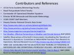 contributors and references
