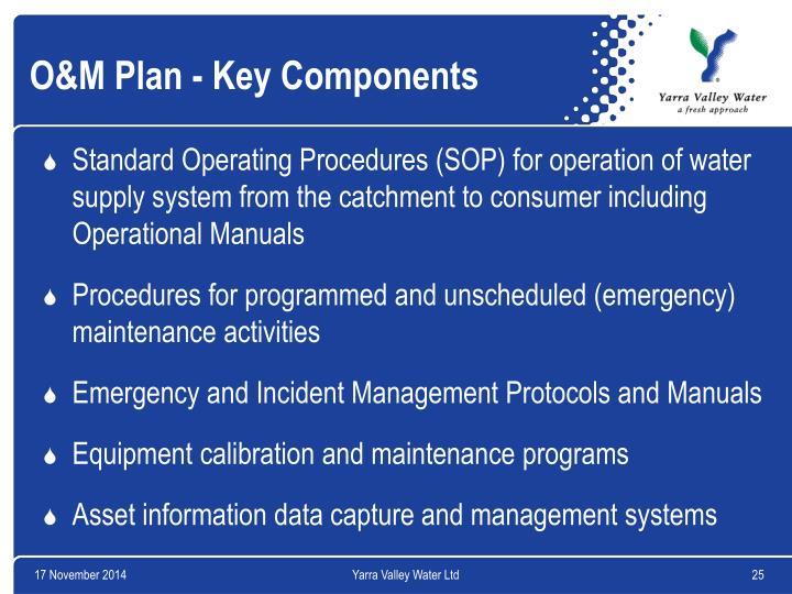 O&M Plan - Key Components