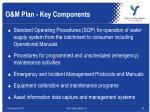 o m plan key components