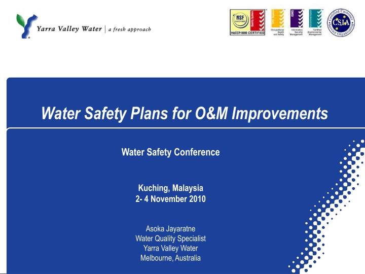 water safety plans for o m improvements