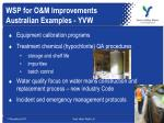 wsp for o m improvements australian examples yvw