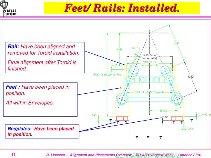Feet/ Rails: Installed.