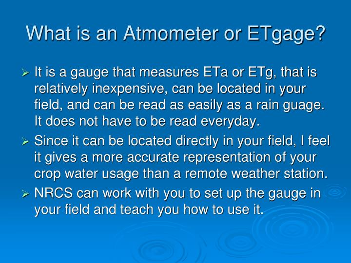 What is an Atmometer or ETgage?