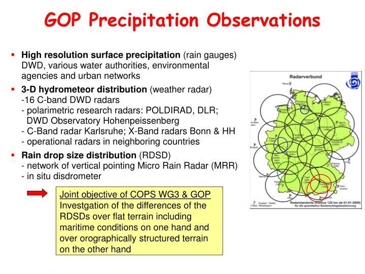 GOP Precipitation Observations