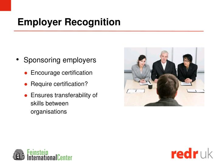 Employer Recognition