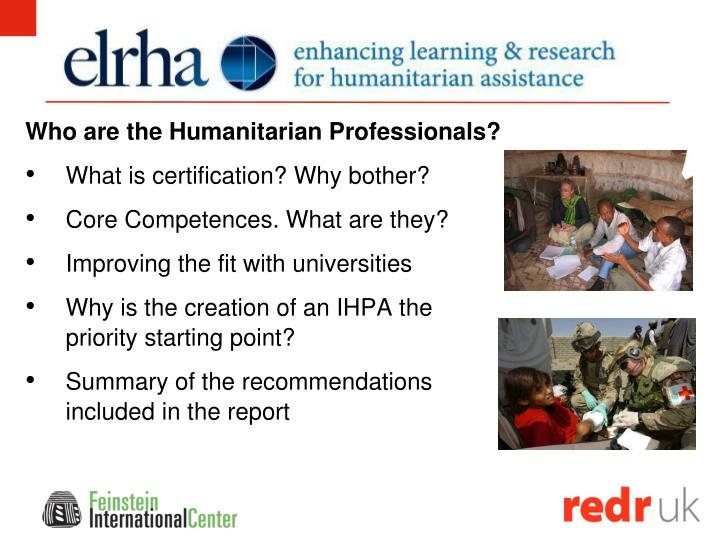 Who are the Humanitarian Professionals?