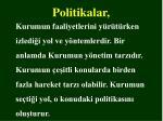 politikalar