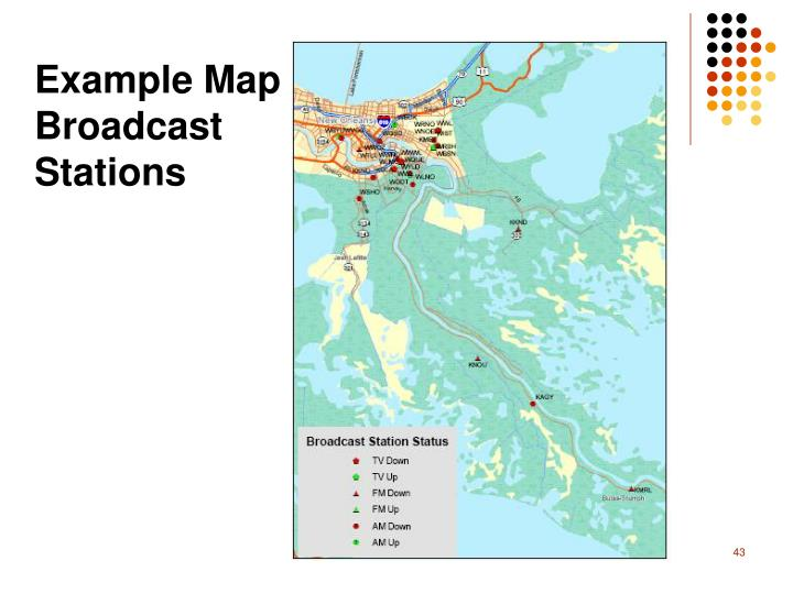 Example Map Broadcast Stations