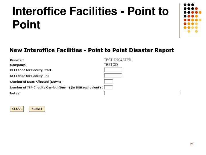 Interoffice Facilities - Point to Point