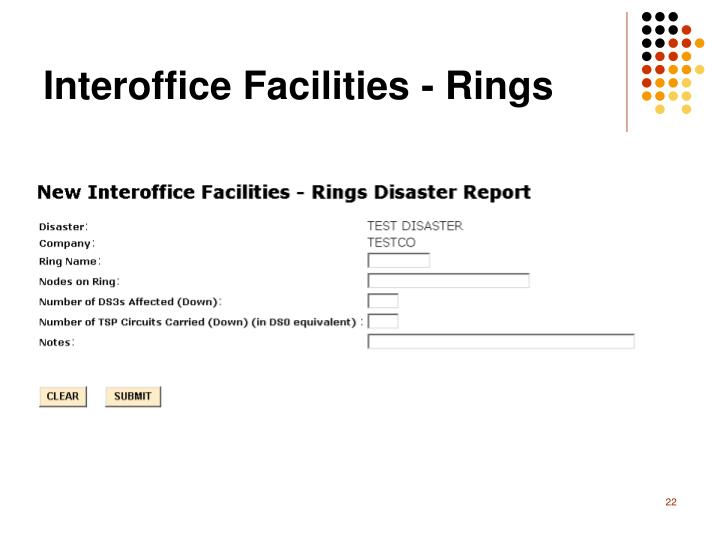 Interoffice Facilities - Rings