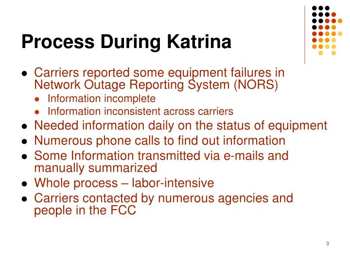 Process during katrina