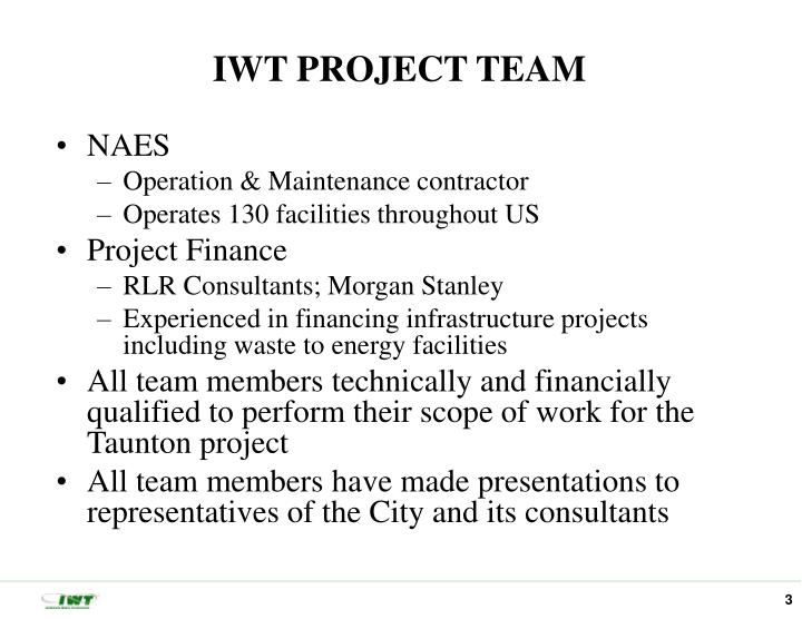 IWT PROJECT TEAM